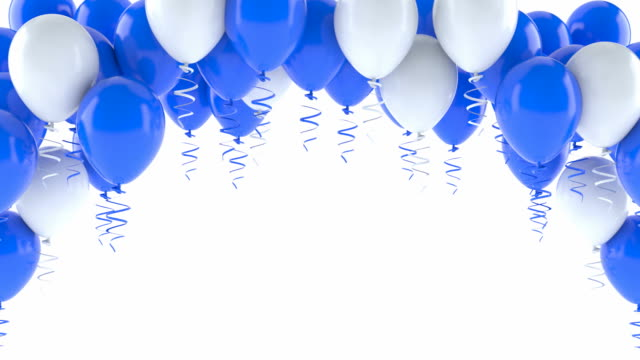 blue and white balloons - anniversary stock videos & royalty-free footage