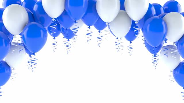 Ballons bleus et blancs - Vidéo