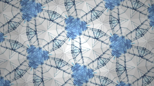 blue and white kaleidoscope video