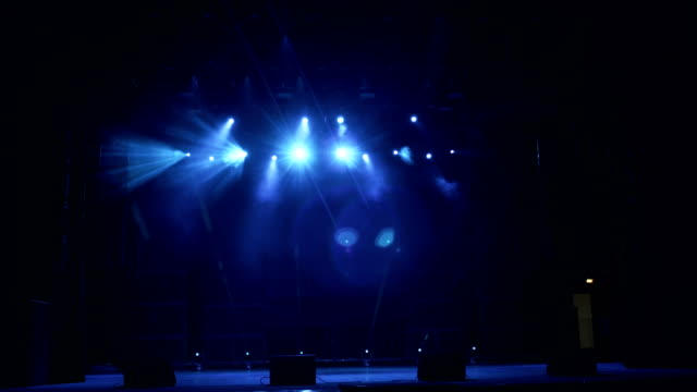 Blue and white stage lights, high resolution. video