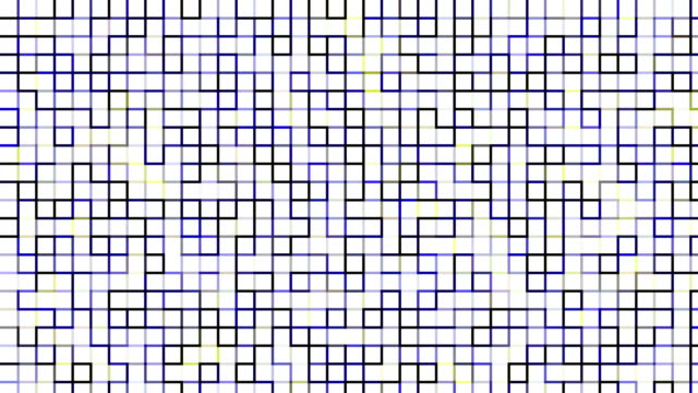Blue and yellow digital squares pattern video