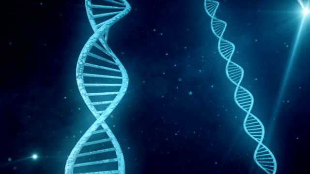 vídeos y material grabado en eventos de stock de fondo azul con rotación de adn. lazo - cromosoma