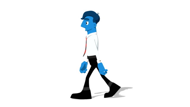 Blue Businessman 'Walk screen left' Connectable Character Animation video