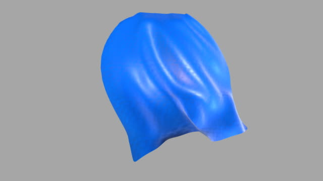 Blue cape waving Blue cape waving, ideal for compositing over an image. cape garment stock videos & royalty-free footage