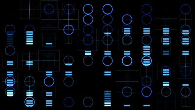 Blue circles and equalizer video