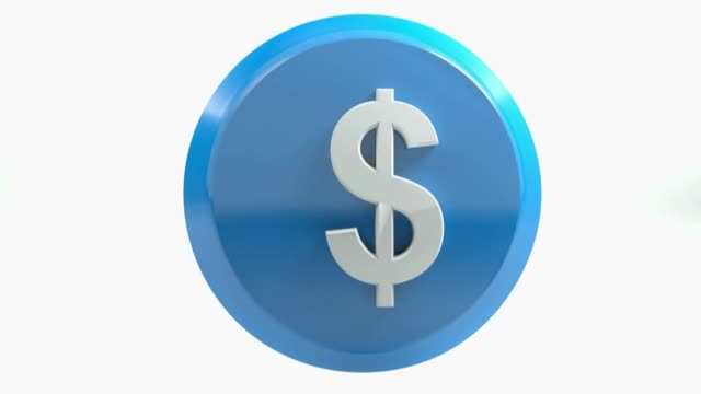 usd blue circular icon moving - 3d rendering video - balance graphics video stock e b–roll