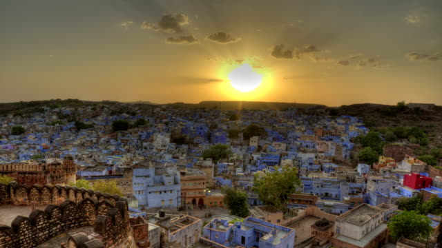 Blue City, India HDR Time-lapse video