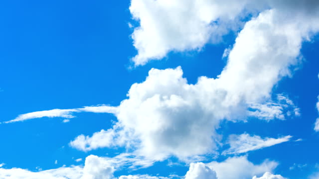 blue cloud sky video