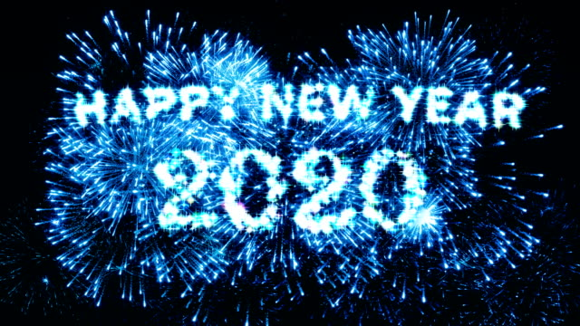 Blue Color Fireworks Display Happy new year 2020 4K. Blue Color Fireworks Display Happy new year 2020 4K. 2020 stock videos & royalty-free footage