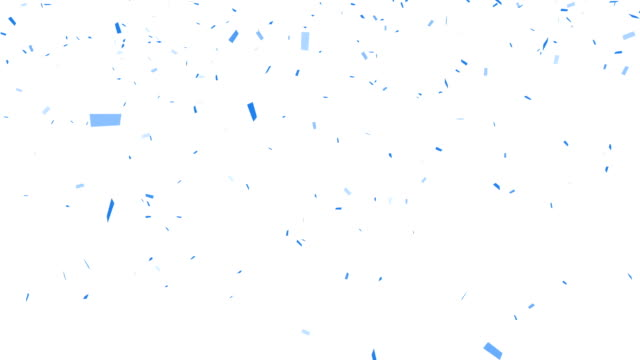 Blue Confetti - alpha channel included video