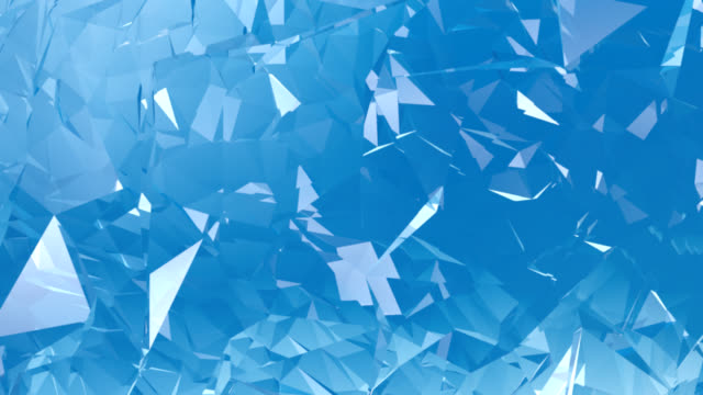 Blue Crystal Background animation HD video