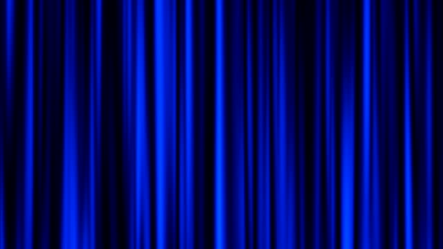 Blue curtain animation video
