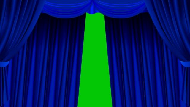 vídeos de stock, filmes e b-roll de cortina azul - arte, cultura e espetáculo