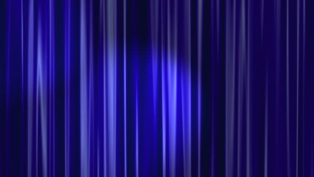 Blue Curtains Open with Spotlights plus Alpha Luma Matte HD video