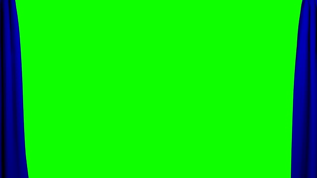 Blue Curtains opening and closing stage theater cinema green screen video