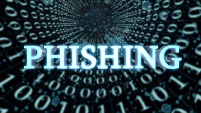 Blue Data Tunnel Phishing Concept Loop 4K – Video