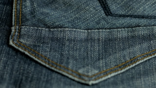 Blue denim jeans texture. Jeans background. Top view. video
