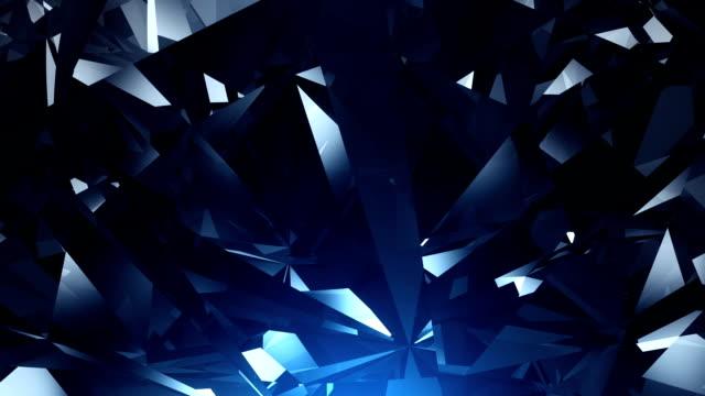 Blue diamond background loop video