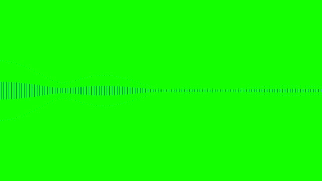 blue digital equalizer audio spectrum sound waves on chroma key green screen background, stereo sound effect signal with vertical lines - attrezzatura per la musica video stock e b–roll