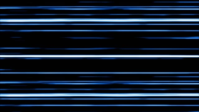 Blue Digital Light Lines Moving.