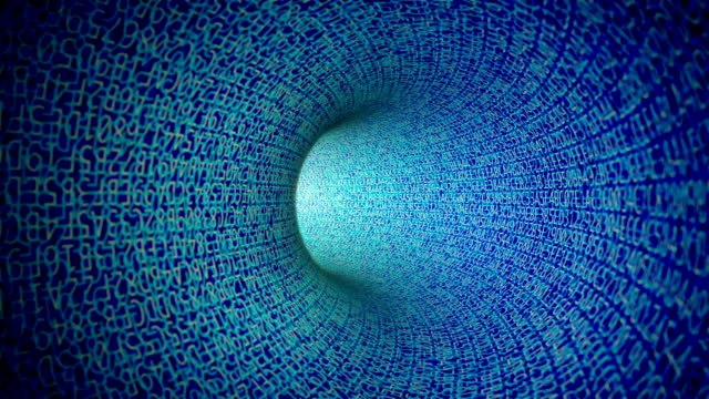 Blue Digital Tunnel (Loopable) video