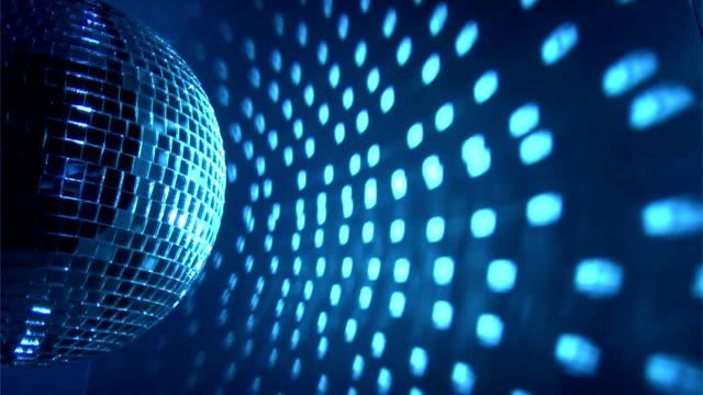 Blue disco background video