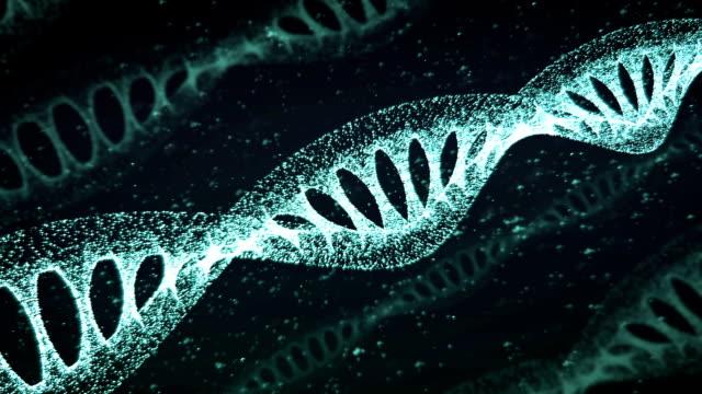 青の DNA ストランド スローモーション - 3 D アニメーション ビデオ