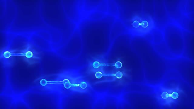 Blue DNA (deoxyribonucleic acid) video