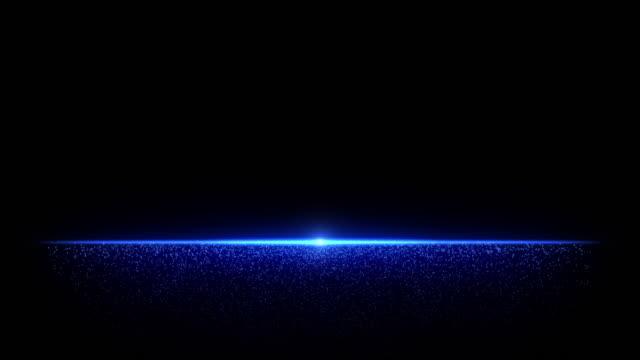 藍色粉塵顆粒 - 鏡頭眩光 個影片檔及 b 捲影像