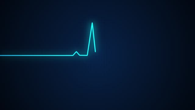 Blue ECG health medical monitor. ECG monitor that shows your health in hospital Blue ECG health medical monitor. ECG monitor that shows your health in hospital pulse trace stock videos & royalty-free footage