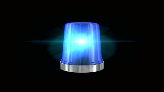 stockvideo's en b-roll-footage met blauwe nood knipperlicht - waarschuwingssignaal