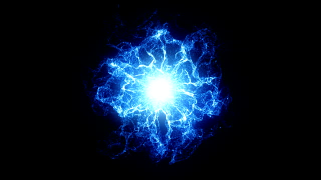 Blue energy ball Plasma Ball, Circle, Cell, Nucleus power stock videos & royalty-free footage