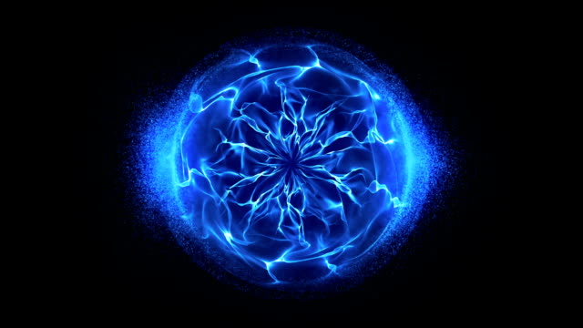 Blue energy sphere background video