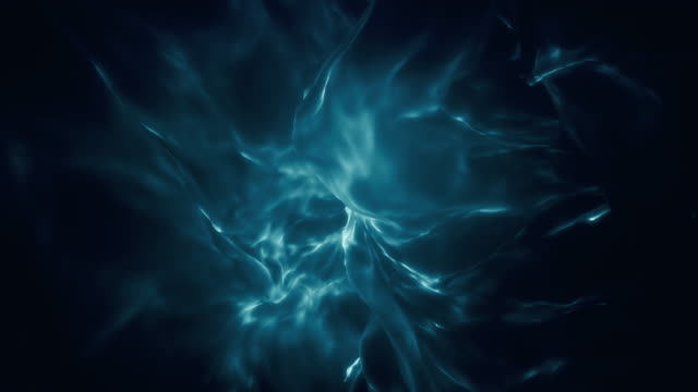 blue ethereal glowing abstract flame loop - abstract texture stock videos & royalty-free footage