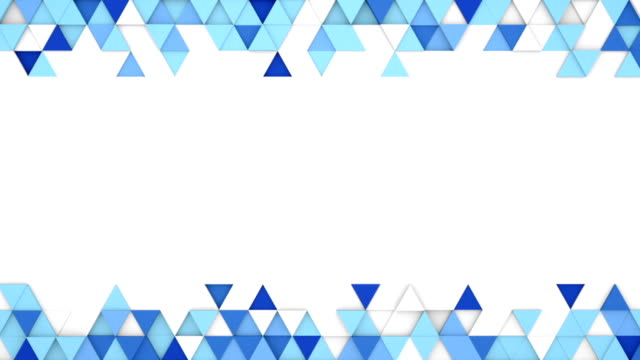 Blue extruded triangles 3D render loopable animation video