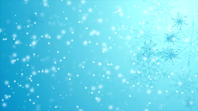 blue falling snowflakes christmas winter video animation - snowflake background stock videos & royalty-free footage