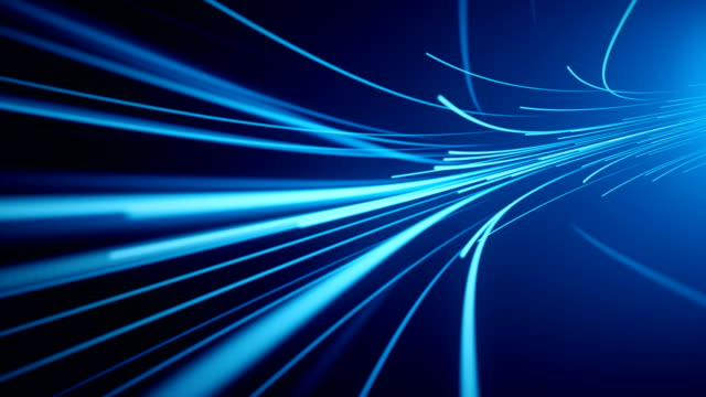 Blue Fiber Optic Abstract Background (Loopable)