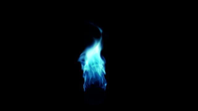 Blue Flame with Alpha matte (HD) video