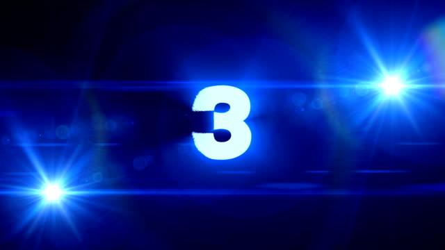 stockvideo's en b-roll-footage met 321 blauwe flare achtergrond - drie personen