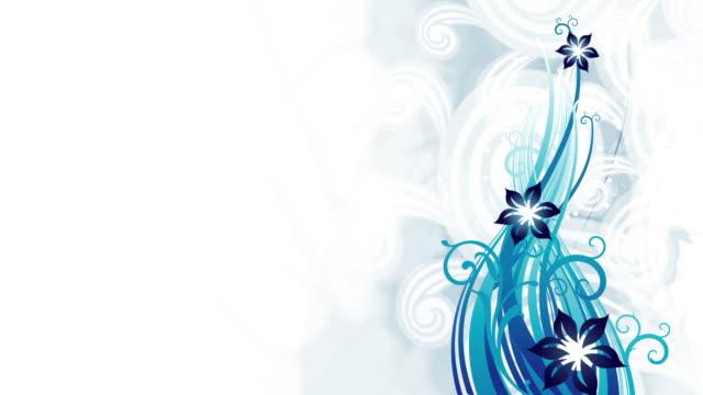 blue floral animation - loop - blommönster bildbanksvideor och videomaterial från bakom kulisserna