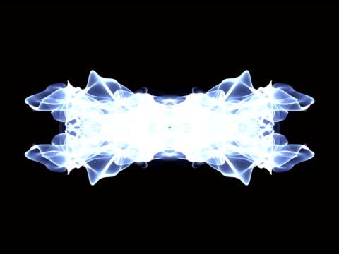 Blue Flowing Light Streaks Loop video