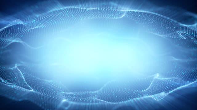 stockvideo's en b-roll-footage met blauw frame van 3d-golvende vormen naadloze loops animatie - {{asset.href}}