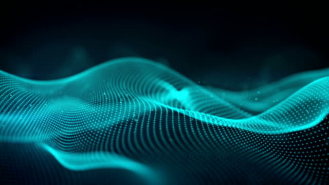 Blue futuristic cyber surface seamless loop sci-fi animation Blue futuristic cyber surface. Abstract science fiction concept. Seamless loop 3D animation rendered with DOF wave pattern stock videos & royalty-free footage