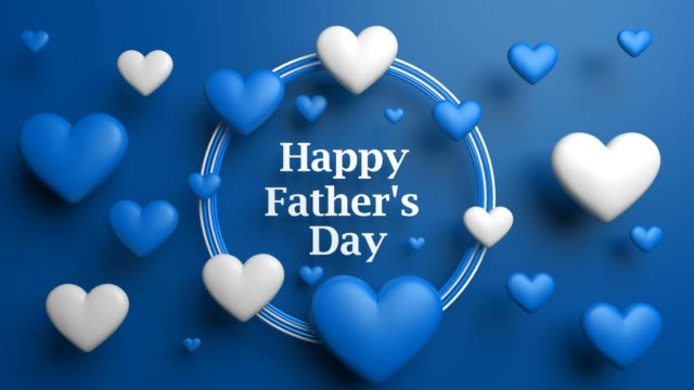 Blue Futuristic Happy Father's Day Concept video