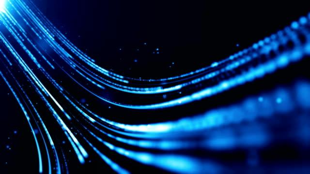 Blue futuristic stream. Digital data flow. Creative abstract background. Seamless loop.