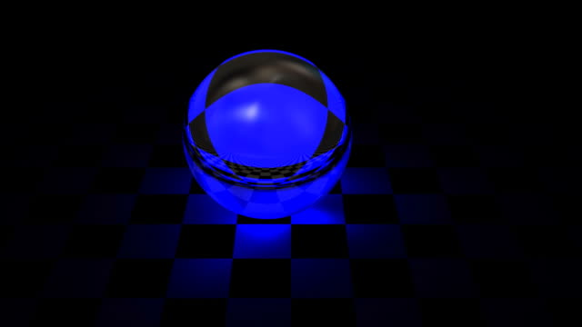 Blue glass sphere