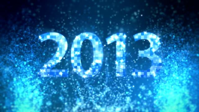 Blue glitter New Year 2013
