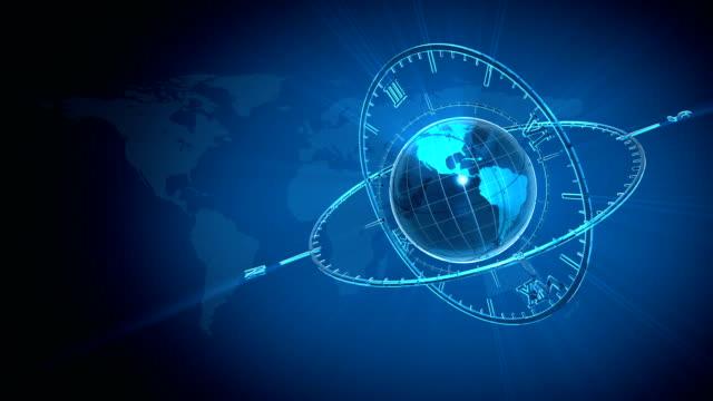 Blue Globe and Clock