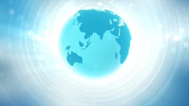 Blue Globe Animation 4k video