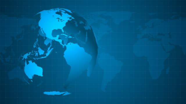 4K Blue Globe Background - Loopable video
